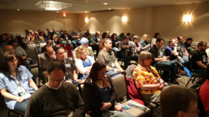 audience members during one of Penguicon's many Panels.