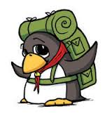 A drawn Penguin with a green backpack - By Howard Tayler, 2010